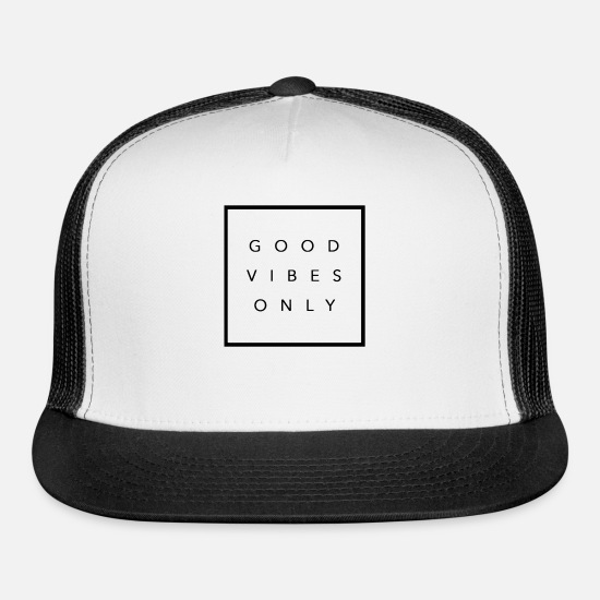 Design Caps - Good Vibes - Trucker Cap white/black
