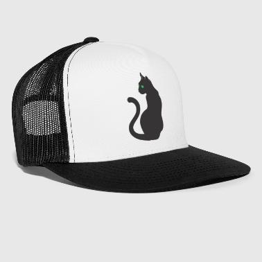 Cat Eye Green Light Cat Eye - Trucker Cap