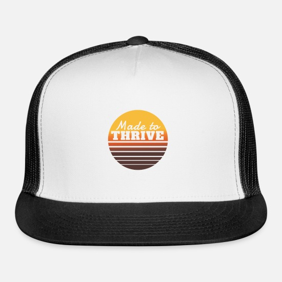 Religious Caps - Made to thrive - Trucker Cap white/black
