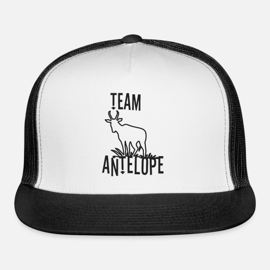 Africa Caps - Team Antelope as a gift idea - Trucker Cap white/black