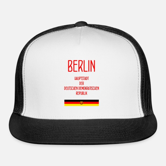 Berlin Caps - DDR - Deutsche Demokratische Republik - GDR - Trucker Cap white/black