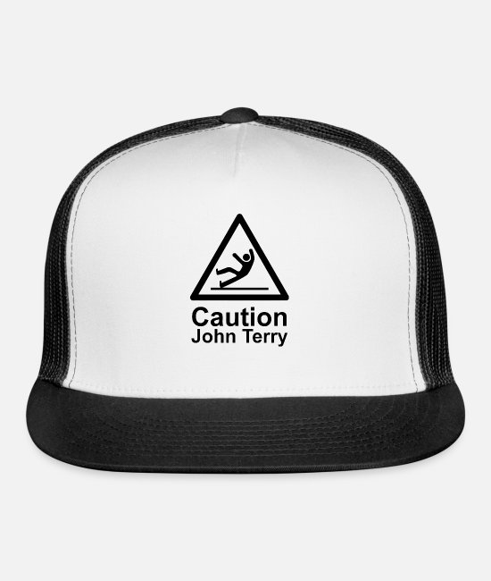 Movie Caps & Hats - Caution John Terry - Trucker Cap white/black