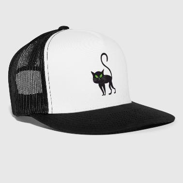 Cat Halloween Monster Zombie Horror - Trucker Cap