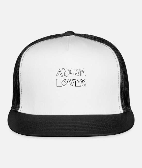 Series Caps & Hats - Anime Lover | Japan Far East Series Movies Gift - Trucker Cap white/black