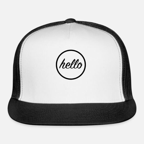 Stylish Caps - Hello - Trucker Cap white/black