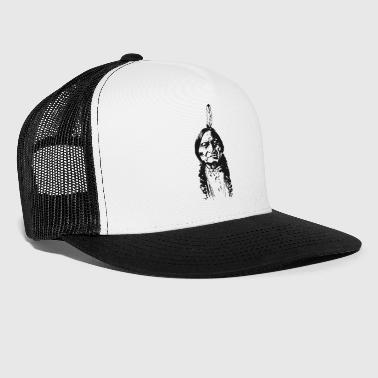 American Indian Vintage Indian Native American Funny - Trucker Cap