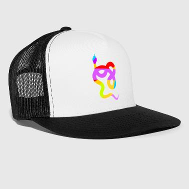 Beautiful and Colorful Snake - Trucker Cap