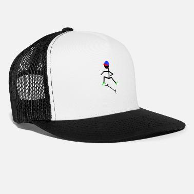 Stick Figure Skater boy stick figure - Trucker Cap