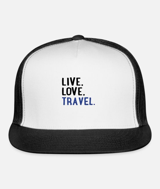 Tourist Caps - travel - Trucker Cap white/black