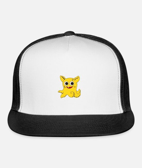 Cute Caps & Hats - The Small But Adorable Dumbo Octopus Tshirt - Trucker Cap white/black