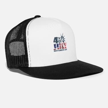 Th Of July 4 TH OF JULY INDEPENDENCE DAY - Trucker Cap
