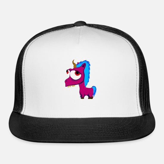 Alcohol Caps - Unicorn hangover - Trucker Cap white/black