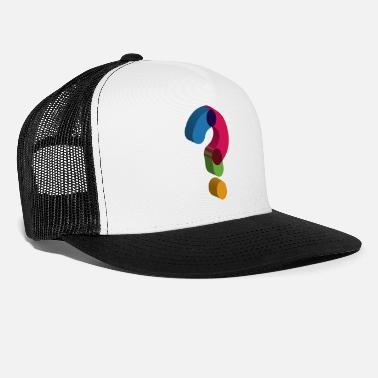 Mark Something question mark sign - Trucker Cap