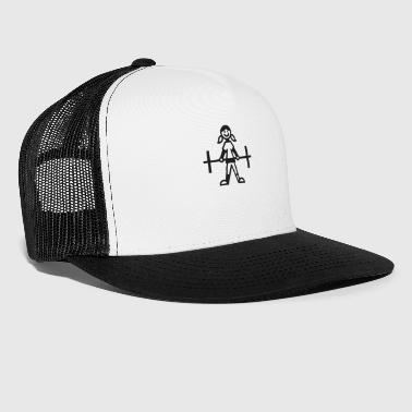 Stick-man Stick figure bodybuilding girl - Trucker Cap