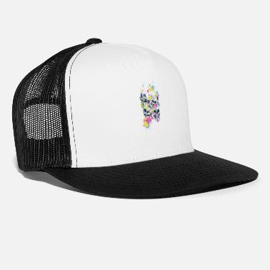 Paint Splatter Skulls Abstract Paint Splatter - Trucker Cap