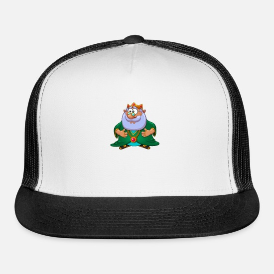 Image Caps - fantasy fairy tale character Elf King - Trucker Cap white/black