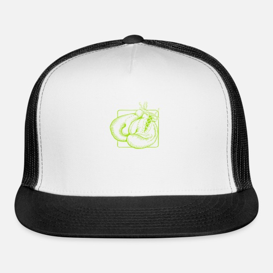 Boxing Gloves Caps - Boxing Gloves Design - Trucker Cap white/black