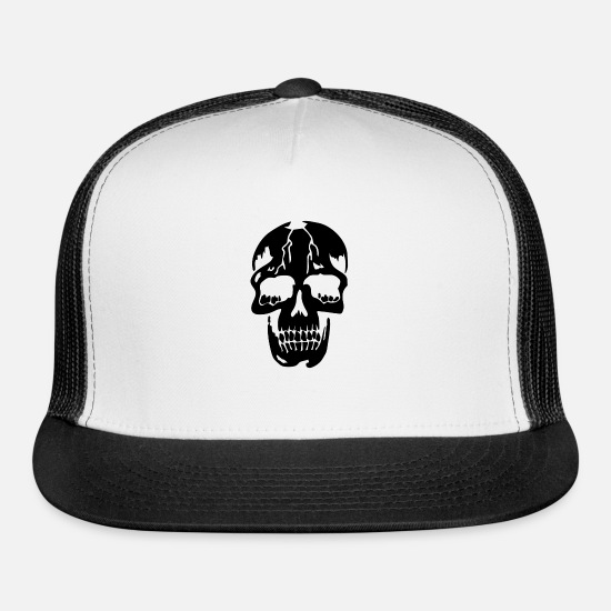 Die Caps - Skull - Trucker Cap white/black