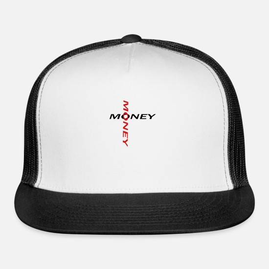 Money Caps - money - Trucker Cap white/black