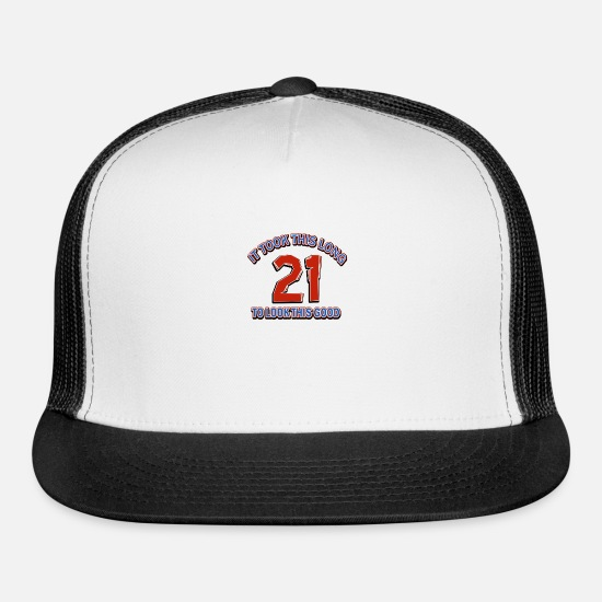 Birthday Caps - 21st birthday designs - Trucker Cap white/black