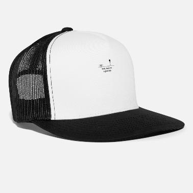 Stick Figure This is not a good sign stick figure funny - Trucker Cap