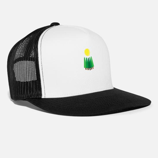 Forest Caps - Pines Sunrise - Trucker Cap white/black
