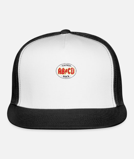 Alphabet Caps & Hats - Teachers Rock - Trucker Cap white/black