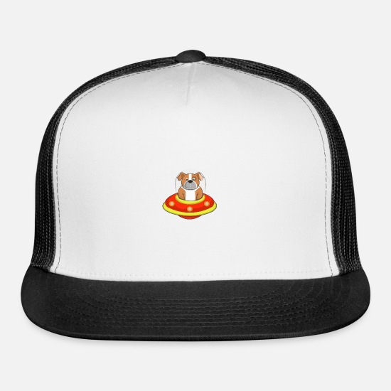 Prank Caps - The dog from space - Trucker Cap white/black