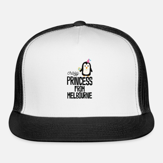 Skies Caps - crazy Princess from Melbourne - Trucker Cap white/black