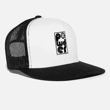 Powder Snow Powder Design | Skiing & Snowboarding | DopeyArt - Trucker Cap