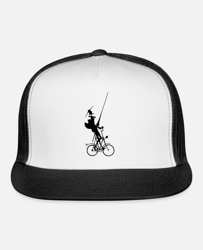 Don Quijote Caps & Hats - Cycling Don Quixote - Trucker Cap white/black