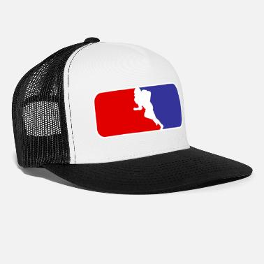 Football Field American Football - Quarterback - Tackle - Field - Trucker Cap
