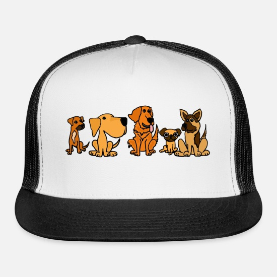 Pet Caps - Rescue Dog Friends - Trucker Cap white/black