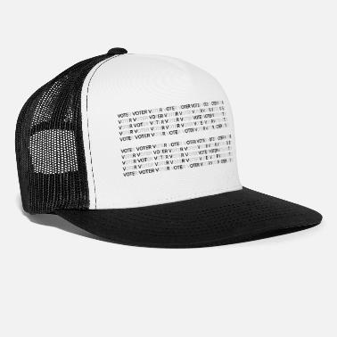 Democracy Text: DEMOCRACY VOTER (2) (black) - Trucker Cap