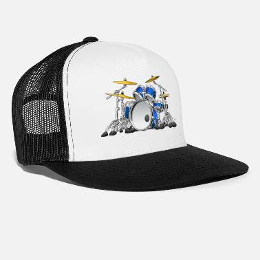 Drummer Drum Set Cartoon - Trucker Cap
