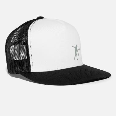 Backhand Ultimate Frisbee Hat: Backhand Silhouette - Trucker Cap