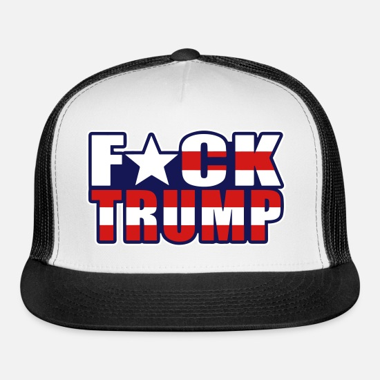 F*ck Trump American Flag Trucker Cap | Spreadshirt