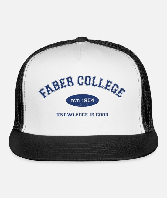 Toga Caps & Hats - Faber College - Trucker Cap white/black
