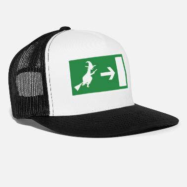 Emergency Exit Witch emergency exit Halloween - Trucker Cap