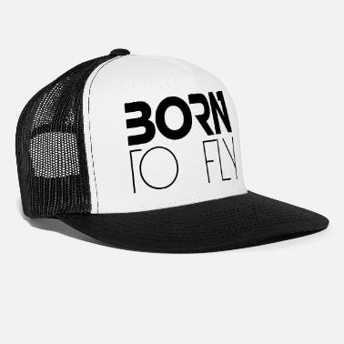 Heli Born to Fly Heli Logo Design - Trucker Cap