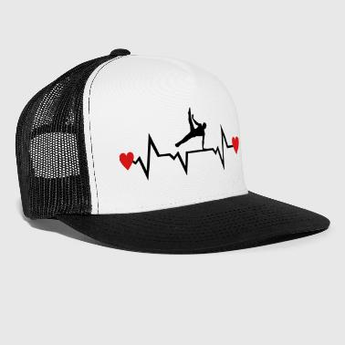 Gymnast, Gymnastics, Heartbeat 2 colors - man - Trucker Cap