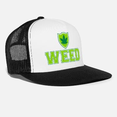 Smoke Weed Weed Shield - Trucker Cap