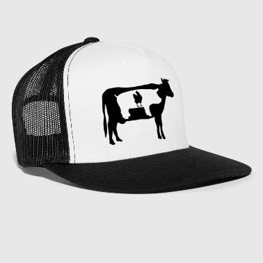 Farm animals, cow, pig, chicken - Trucker Cap