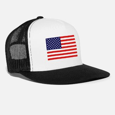 Rebel Flag USA Flag - Trucker Cap