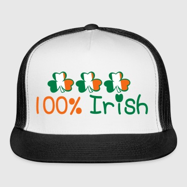 ♥ټ☘Kiss Me I'm 100% Irish-Irish Rule☘ټ♥ - Trucker Cap