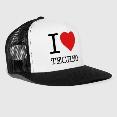 I LOVE TECHNO - Trucker Cap