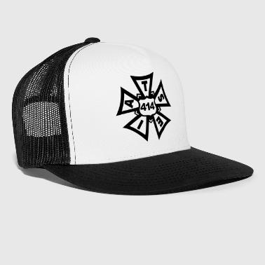 White and Black Local 414 Trucker Hat - Trucker Cap
