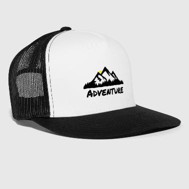 Mountains and Forest, Nature Adventuer - Trucker Cap