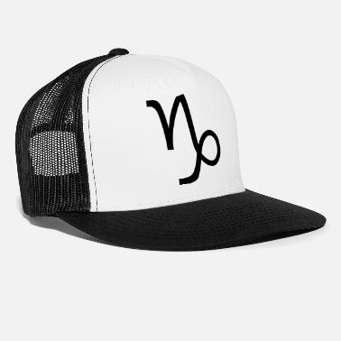Capricorn Capricorn zodiac sign and horoscope symbol - Trucker Cap