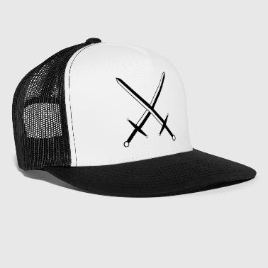 Military Crossed Swords  - Trucker Cap